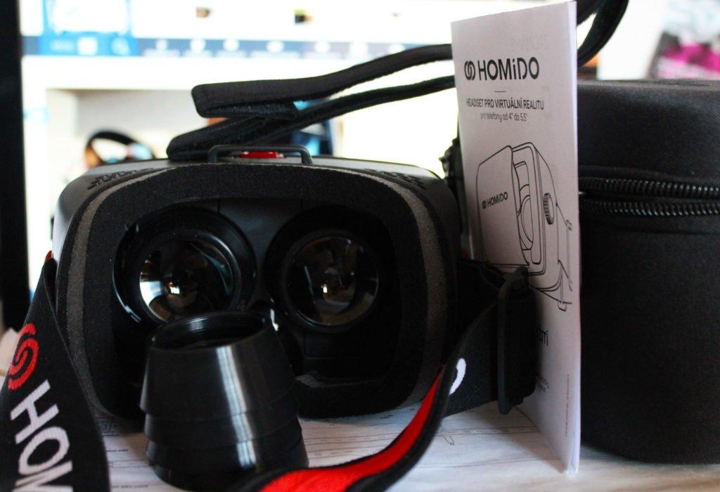 Homido VR obsah balenia