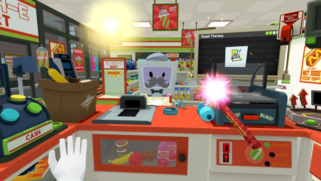 Job Simulator, je známa hra pre Oculus Rift a HTC Vive
