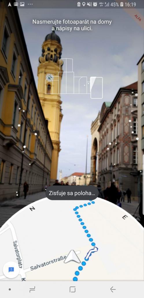 Google Maps AR - rozšírená realita